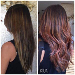 2018 Hair Trends black Highlights